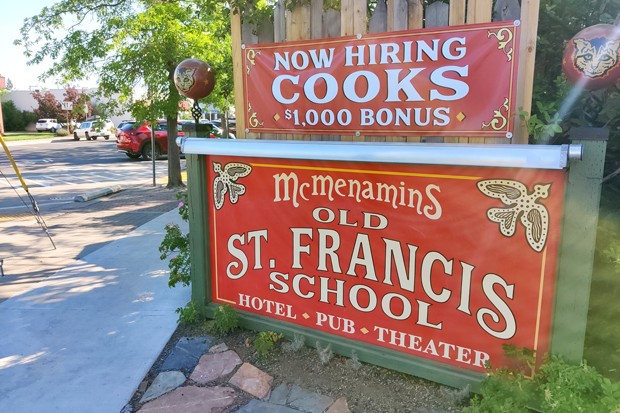 McMenamins in downtown Bend offers a $1,000 bonus for cooks. - JACK HARVEL
