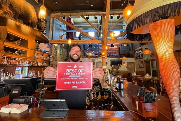 One of our 2020 Best of Central Oregon winners, @riverpigsaloon, is still stoked on their award! Who's going to take home the titles in the 2021 readers' poll! You'll find out when Best of Central Oregon 2021 hits stands August 18! Wait for it... Be sure to tag us @sourceweekly for a chance to be featured here and as the Instagram of the Week in the Cascades Reader. - @RIVERPIGSALOON / INSTAGRAM