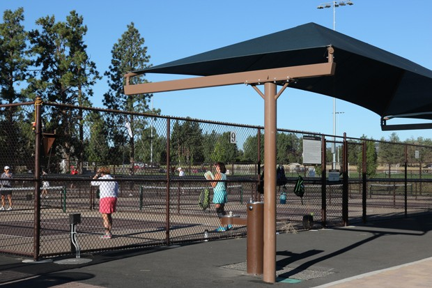 The courts at Pine Nursery Park have seen action since 2014. - COURTESY BEND PICKLEBALL CLUB