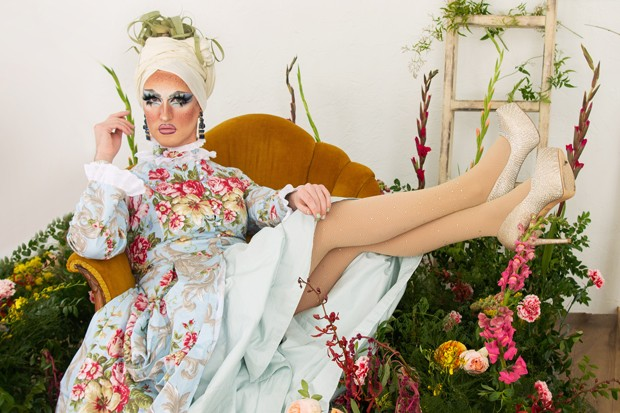 Fertile Liza lounges among the plants, awaiting the next grand event. - ALYSON BROWN