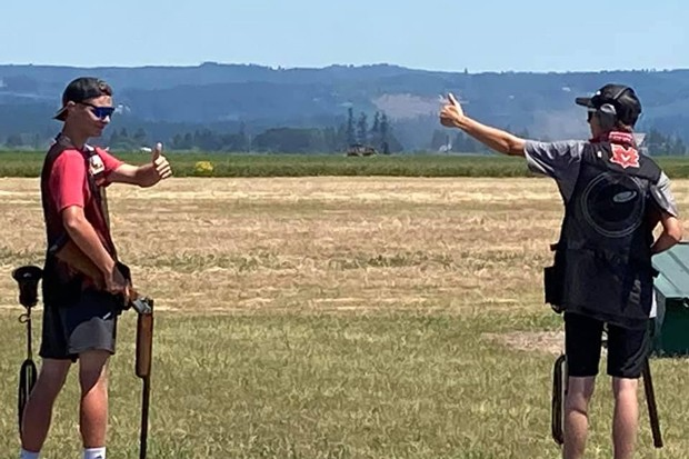 Mountain View trap shooters set to compete at the Redmond Rod and Gun Club. - COURTESY MVHS CLAY TARGET CLUB
