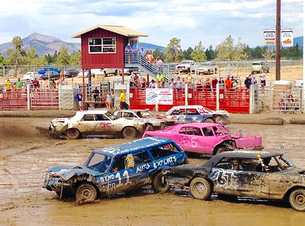 The annual Father's Day Demolition Derby raised funds for the Lion' Club.