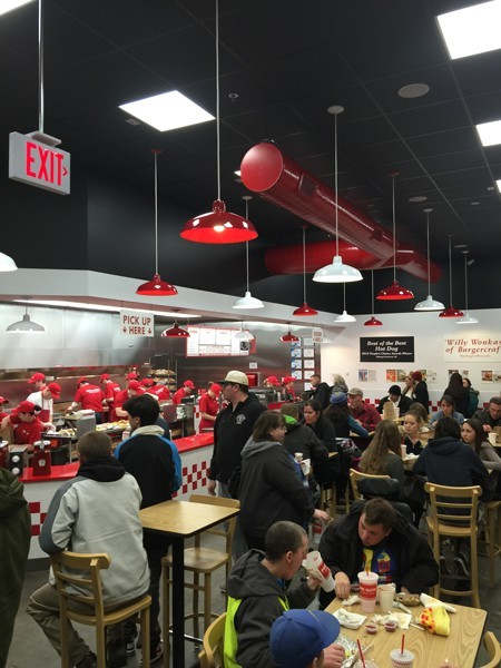 Burger fans have flocked to the new Five Guys in Bend.
