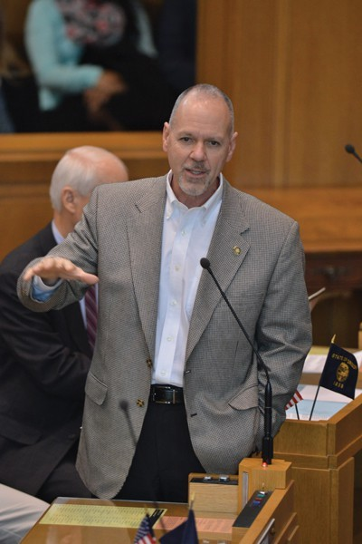 Rep. John Huffman during a floor session.