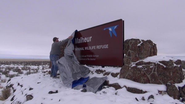 Last January, Mark Heckert, of the Backcountry Hunters and Anglers, uncovered the Malheur sign that occupiers had previously covered.