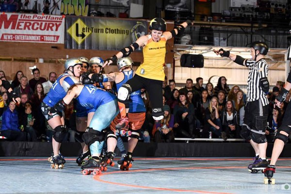 LCRD skaters scrimmage at Cascade Indoor Sports Sunday, Oct. 1. - REGULARMAN PHOTOGRAPH