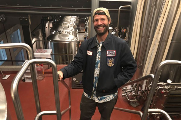 Ben Shirley brews the beer at 10 Barrel San Diego. - KEVIN GIFFORD.