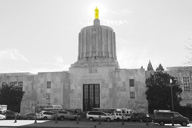 Oregon State Capitol building in Salem. - SUBMITTED