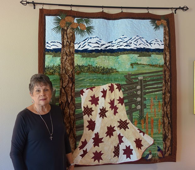 """Detail from """"Kathy's View,"""" one of her favorite quilts. - SUBMITTED"""