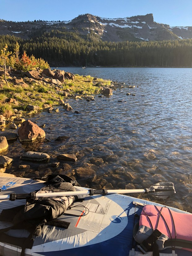 Tam MacArthur Rim looms over Three Creek Lake south of Sisters. - NICOLE VULCAN