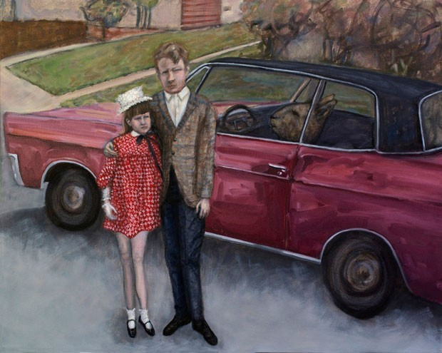 """New Car,"" oil on canvas, by Paula Bullwinkel. - PAULA BULLWINKEL"