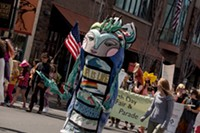 Teafly's Water Guardian, part of the Earth Day Fair & Parade Saturday.