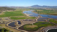 Overhead view of the Crooked River Wetlands complex