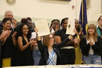 Gov. Kate Brown officially signed the Student Success Act into law in May, but did a ceremonial signing on the first day of school for Portland Public Schools students.