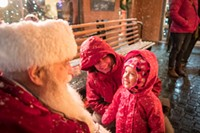 Santa Visits in Downtown Bend