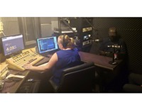 Katy Ipock, former KURT 93.7 host, interviews guest Johnny Alfredo for a recent KPOV broadcast.