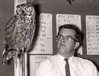 Jim Anderson and Owl doing their thing at a school lab back in the OMSI days of the '60s.