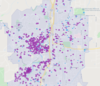 Bend's high density of vacation rentals contributes to the scarcity of middle-income housing.