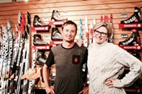 Owners, Mike Schindler and Susan Conner at their shop, Sunnyside Sports