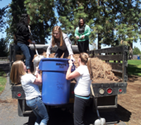 Pilot Butte Middle School students take part in community service work—a large component of IB learning at the school.