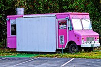 A food truck in somewhere USA.