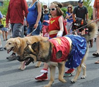 Do you own thing at the 4th of July Pet Parade.