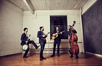 Bassist Alastair Whitehead, far right, and The Slocan Ramblers bring their traditional-meets-contemporary bluegrass sounds to Pickin' & Paddlin.'
