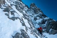 Mixed climbing on Mt. MacDonald.