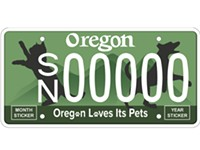 Pet-Saving License Plate Introduced in Oregon