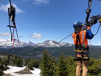 Mt. Bachelor zip line is an exhilarating ride ▶ [with video]
