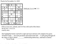 Pearl's Puzzle- Week of Nov 16