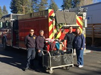 Bend Fire Collecting Warm Clothes