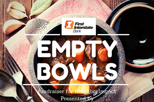 First Interstate Bank's Empty Bowls fundraiser for NeighborImpact