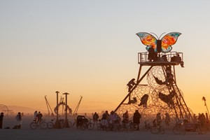 Infinite Moment: Burning Man on the Horizon