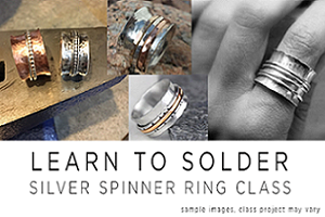 DIY-Copper Spinner Rings With Sterling Silver Upgrade Option