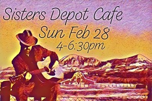 Bill Powers Live on the patio at Sisters Depot!