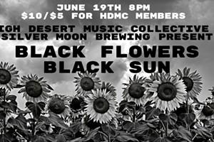 An Evening with Black Flowers Black Sun