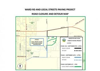 Ward Road Work Ahead