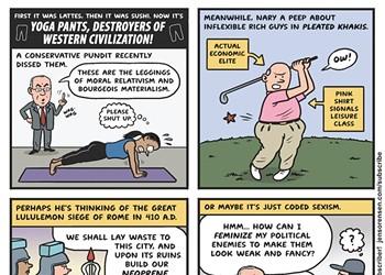 Yoga pants, destroyers of Western civilization