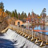 The Newport Avenue dam was first built in 1909, creating Mirror Pond. At the time, it provided an abundant source of power for the small town of Bend. Today it provides enough power for less than 1,000 Bend homes.