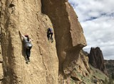 Climbing into the Sunset at Smith Rock - Uploaded by Chockstone