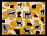 "Pronghorn Antelope, wood, galvanized steel, silkscreen, acrylic paint 30"" x 40"" - Uploaded by J"