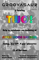 Groovasaur's 2nd Birthday Party Poster - Uploaded by Groovasaur Music