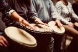 Join local musician, Shireen Amini, for this hand drumming class series for womxn. - Uploaded by Shireen Amini