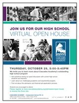Join us for our Cascades Academy High School Virtual Open House - Uploaded by cartmell@cascadesacademy.org