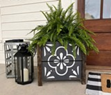 One of the many porch planters that are available to personalize! - Uploaded by Board & Brush - Bend