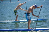 JONATHAN WESTON - SUP races at Elk Lake