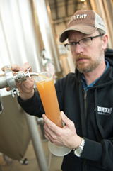 CHRISTIAN HEEB - Worthy brewmaster Chad Kennedy samples the latest in hop science.