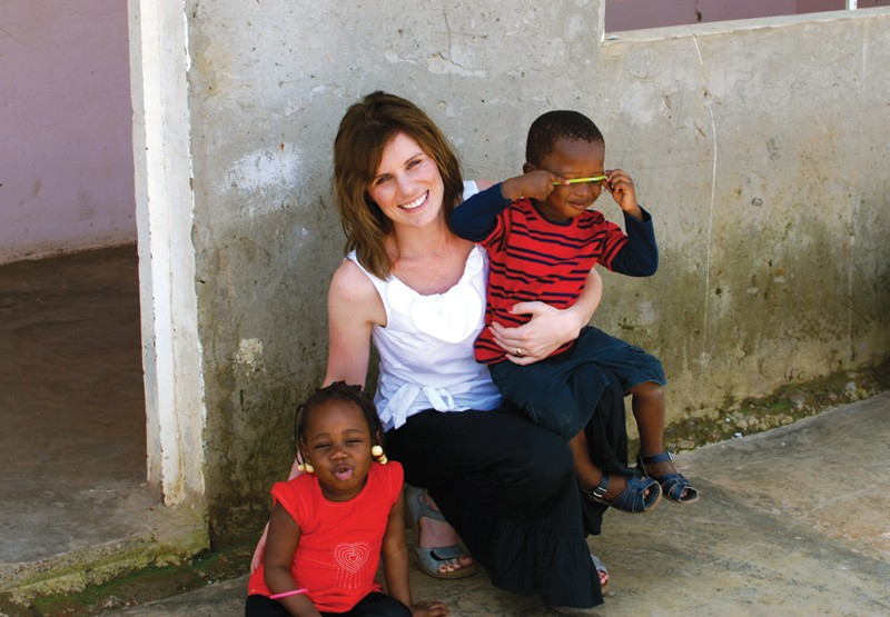 A NEW HOPE Beth Hall with her adopted children from the Congo, where conditions for children are dangerous.