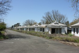 Abandoned residences dot Skaggs Island, which once also boasted a bowling alley and nightclub among its amenities.